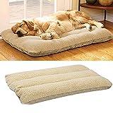 UNHO Hundekissen abnehmbare Hundebett Haustier waschbar und pflegeleicht Hundematte mit Vlies kuschelig komfortable Formstabil M/L/XL ,Braun, XL