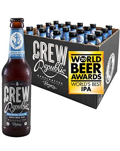 CREW REPUBLIC® Drunken Sailor - India Pale Ale Craft Bier | Gewinner World Beer Awards World's Best IPA 2020 | Hopfig | Bierspezialität nach deutschem Reinheitsgebot in Bayern gebraut (20 x 0,33l)