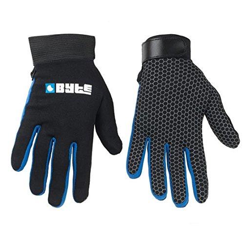 Byte figurnahe Passform Haut Hockey Handschuhe schwarz blau S