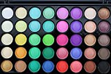 AMOUSTORE Eyeshadow Palette 40 Color, Fall Eye Shadow Makeup Palettes, Neutral Brown Yellow Gold Warm, Matte Shimmer Eyeshadow Pallet (B)