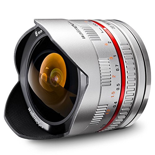 Walimex Pro 8mm 1:2,8 CSC Fish-Eye-lens, voor Samsung NX, zilver