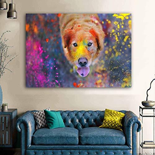 Puzzle 1000 Piezas Arte Lindo Perro imágenes Animales Puzzle 1000 Piezas clementoni Gran Ocio vacacional, Juegos interactivos familiares50x75cm(20x30inch)