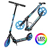 Apollo Patinete Urbano XXL Phantom Pro LED - Patinete de Grandes Ruedas de 200 m – City Scooter Plegable y Ajustable para Niños y Adultos