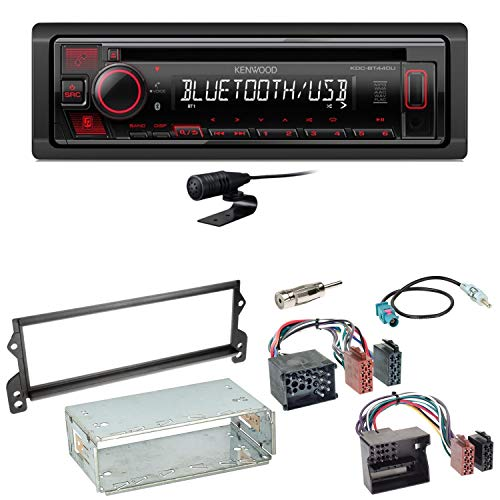 Kenwood KDC-BT440U Bluetooth USB CD AUX MP3 WMA Flac Autoradio Einbauset kompatibel mit Mini R50 R52 R53
