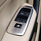 LEIHUA Ajuste Fit For Ford Ranger 2016 17 18 19 2020 Interruptor De Elevación 4 Botones De Puerta 4pcs Ventana Interior Panel Funda De Tapizado