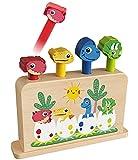 Toyssa Juguetes de Madera Montessori Pop Up Juguetes de Dinosaurios Juego Educativo Regalos de Cumpleaños para Bebés de 1 2 3 Años Pequeños Niños y niñas