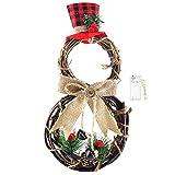 Viiegor Christmas Wreath Corona de Navidad, Adorno de Guirnalda para Navideñas Fiesta de Bodas Fondo Pared Decoración de Navidad Hogar/Ventana/Puerta/Pared (40x20cm)