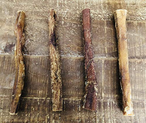 """Homemade All Natural Beef Straight Bully Stix, 6"""" each, Pack of 4"""