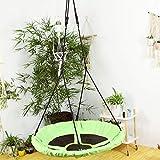 TOPIND 40'' balançoire nid d'oiseau rond avec cordes de suspension réglables pour enfants, adultes, capacité de 330 lb