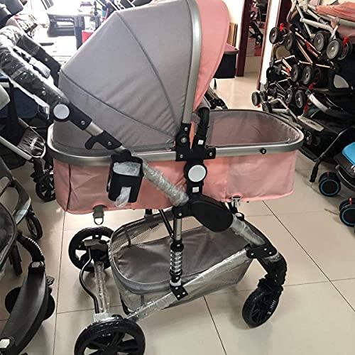 Cochecas para bebés, cochecitas y cochecitos, cochecito de visión superior ajustable, sistema de viaje de cochecito de paraguas con canasta de bebé y resortes anti-shock, silla de carruaje infantil