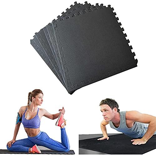 Tapetes de espuma para ejercicios, baldosas de rompecabezas entrelazadas, tapete de gimnasio antideslizante para deportes, juego de bebés, tapete grande para ejercicios de gimnasia en casa (