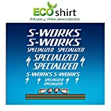 Ecoshirt BY-V5NL-373T Aufkleber Stickers S Works Specialized Aufkleber Decals Autocollants Adesivi R84, weiß