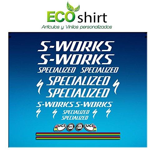 Blanc Ecoshirt BY-V5NL-373U Stickers S Works Specialized Aufkleber Decals Autocollants Stickers R84