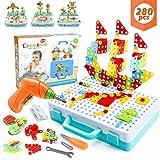 WEARXI Mosaik Steckspiel, Spielzeug ab 3 Jahre, Geschenk für Kinder - 3D Puzzle Kinder Bausteine Kinder Spielzeug ab 3, Steckspiele ab 3 Jahren, Geschenke...