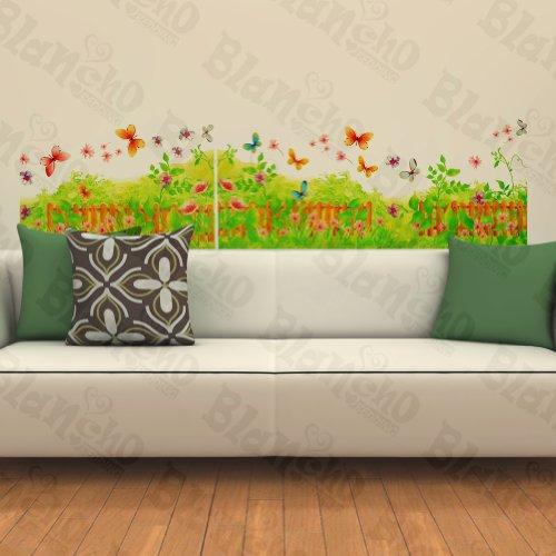 Un Papillon et herbe fraîche – Patchs Rouge Stickers muraux Stickers Décoration intérieure