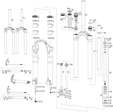 RockShox Service Kit 2 Step Air Lyrik 09 10