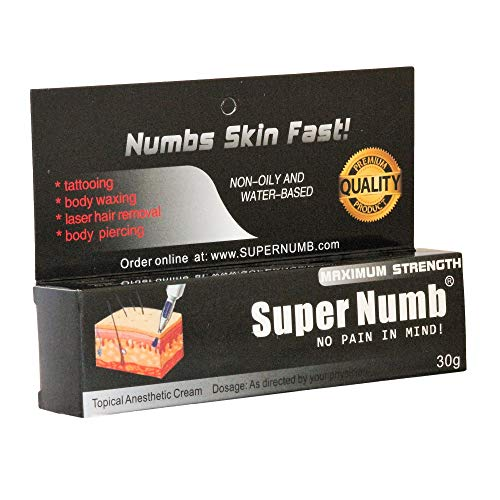30g SUPER NUMB Anesthetic Skin Numbing Cream Numb Tattoo Laser Piercing Waxing...