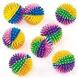 Baker Ross - Pelotas Erizadas de Colores (Pack de 8) - Pequeños Juguetes Relleno de Piñata Divertidos Premios y...