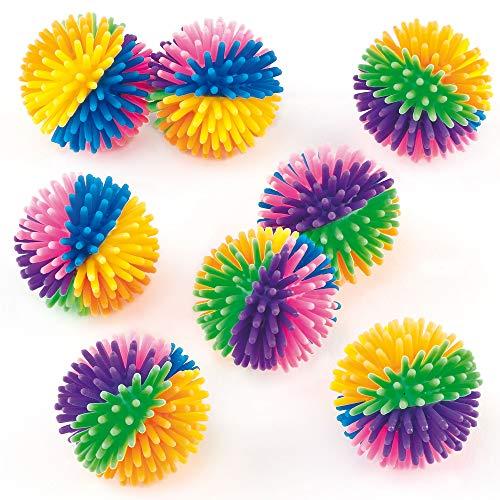 Baker Ross - Pelotas Erizadas de Colores (Pack de 8) - Pequeños Juguetes Relleno de Piñata Divertidos Premios y Regalos de Fiestas Infantiles, Multicolor (ET402)
