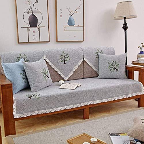 Jonist Funda de sofá de algodón y Lino, Funda de sofá de Varios tamaños, Sencilla y Elegante, sin Costuras para Silla o sofá-D-70X180cm