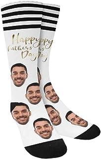 Artsadd, Calcetines personalizados para el día del padre con calcetines de cambio de cara, regalo único del día del padre para tu padre