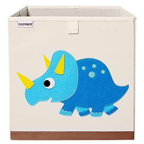 DODYMPS Foldable Animal Toy Storage Bins/Cube/Box/Chest/Organizer for Kids & Nursery, 13 inch (Cute Triceratops)