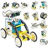 CENOVE STEM Solar Roboter Spielzeug 13 in 1 Sets, Bauwissenschaftlicher Experimentierkasten von Solar Angetrieben Lernspielzeug für Kinder 10 11 12+ Jährige