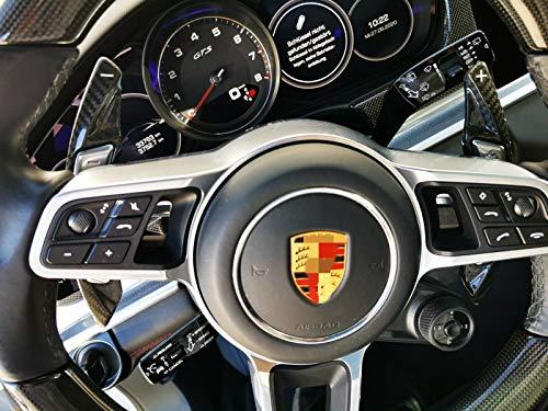 MAX Carbon kompatibel mit Porsche echt Carbon Karbon vollcarbon Schaltwippen Schaltpaddel Verlängerung für Macan Panamera Cayenne 911 GT3 718 Cayman Boxster mit Sport Chrono Paket