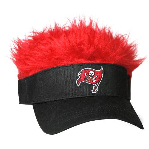 NFL Tampa Bay Buccaneers Flair Hair Adjustable Visor, Black