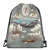 Yuanmeiju Ocean Meets Sky 3D Print Drawstring Backpack Rucksack Shoulder Bags Bolsa de Gimnasio For Adult 17'X14'