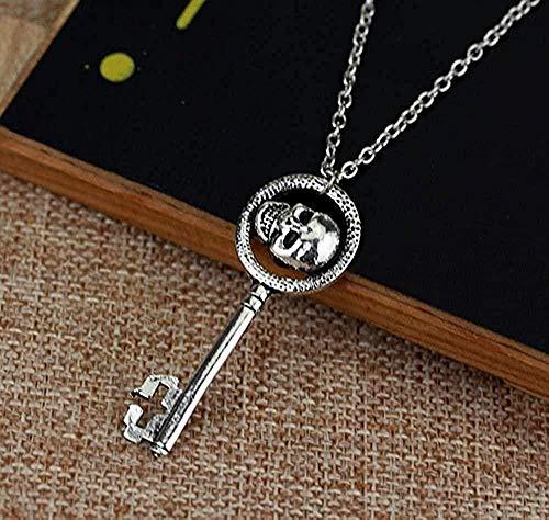 MGBDXG Co.,Ltd Necklace Skeleton Skull Key Pendant Necklace Women Accessories Necklace Necklace
