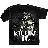 The Walking Dead Killin' It Camiseta Manga Corta, Negro, S para Hombre