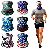 Gaiters Face Mask for Men - 6 Pack Bandanas Dust Running Cooling Face Cover Scarf Shield