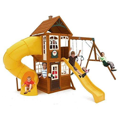 KidKraft Lewiston Retreat Cedar Wood Swing Set PLAYSET