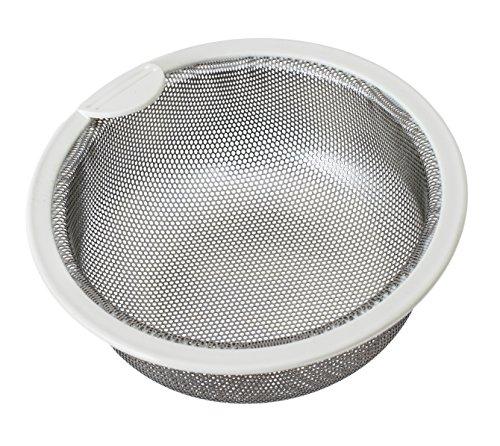 Belca排水口ゴミ受け流し用ステンレス浅型ゴミカゴ135タイプ直径13.5×高さ5.8cmステンレス/ホワイト日本製SP-202T
