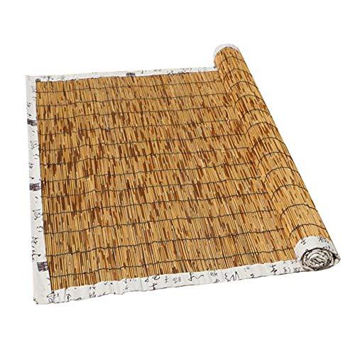 LBYDXD Persiana Bambu Exterior - Persianas De Caña, Estores Enrollables - Decoración Interior/Exterior, Aislamiento térmico, Impermeable, Transpirable, sombreado, Cortinas Opacas con Polea