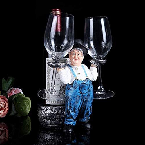 PYROJEWEL Vino decoración Estante salón de Vino Botella de Vino Copa de Vino Estante del sostenedor del hogar del Estante del Vino Creativo decoración Simple Armario botellero casa Europea