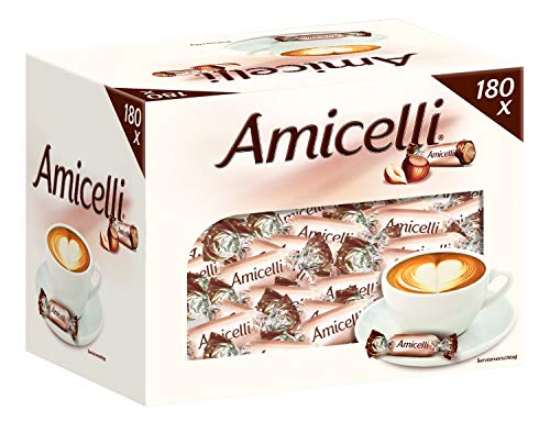 Amicelli Waffelröllchen | Miniatures, Haselnusscreme | 180 Riegel in einer Box (180 x 5 g = 1 x 0,9 kg)