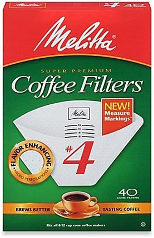 No 4 Cone Coffee Filter In White 40 Count Pack Of 3