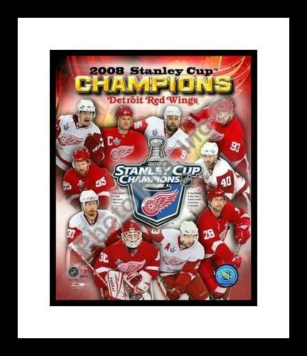 2008 Stanley Cup Champs Detroit Red Wings NHL 8x10 Photograph Composite