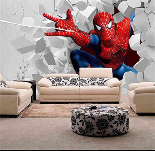 Kinder Fototapete Spiderman Wandbild Für Das Kinderzimmer Schlafzimmer Tv Hintergrund Wasserdicht Moderne Wanddeko 200 * 140Cm