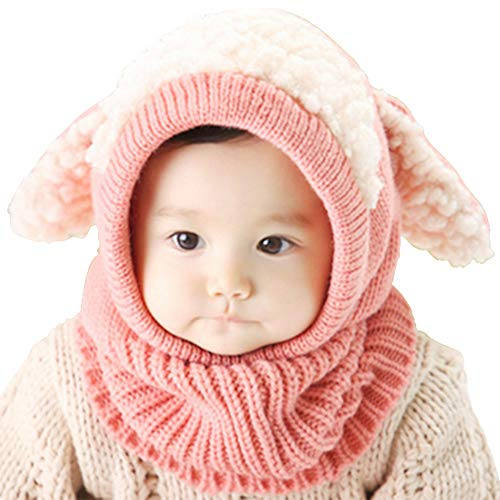 Lutateo Bonnet Bébé, Bonnet Echarpe Set, Bonnet Hiver pour Bébé, Bébé Unisex Bonnet Chapeau...