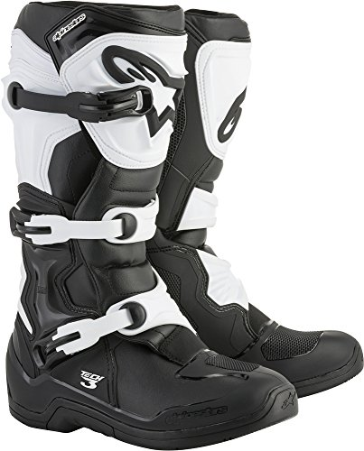 Alpinestars Men's Tech 3 Motocross Boot, Black/White, 9
