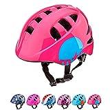 Casco Bicicleta Casco Biciclea Casco Bici Casco de Bicicleta para niños y jóvenes Casco MTB Carretera Ciclismo Skate Bicicleta patineta Patines monopatines MA-2 (S(48-52cm), MTR Pink)