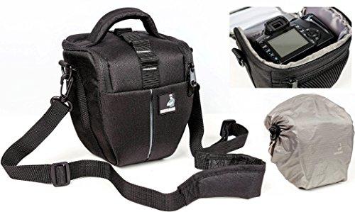 Bodyguard Colttasche Colt M Kameratasche mit Regenhülle für alle SLR Kameras mit Objektiv bis 18cm z.B. Canon EOS 70D 77D 80D 200D 1300D 700D 750D 760D 77D 800D Nikon D3300 D3400 D5100 D5300 D5500
