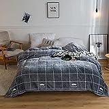 KLily Manta para El Hogar Franela Material Lavable Oficina Sala De Estar Aire Acondicionado Manta Dormitorio Cama Y Desayuno Dormitorio Manta para La Siesta