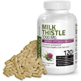 Milk Thistle 1000mg Silymarin Marianum & Dandelion Root Liver Health Support 120 Capsules
