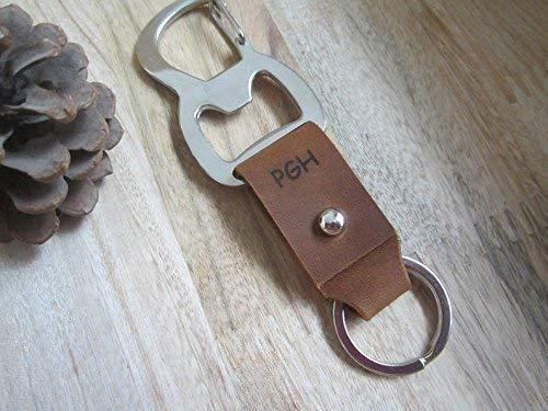 Bottle Opener Keychain,Engraved Leather Keychain,Leather Key Fob,Belt Keychain,Custom Keychain,Personalized Groomsmen Gifts,5