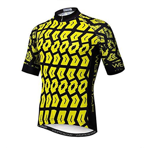 Camisa De La Bicicleta Verde Superior del Ciclismo Jersey Divertido Hombres S...