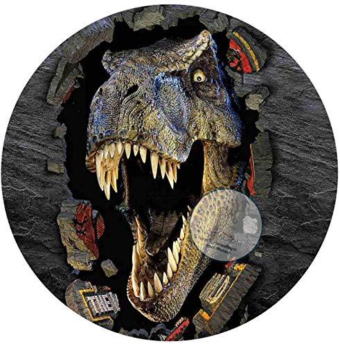 Für die Geburtstags Torte, Zuckerbild mit dem Motiv: Dinosaurier , Dino, Essbares Foto für Torten, Fondant, Tortenaufleger Ø 20cm,0408c